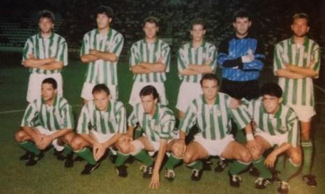 Alineación Betis-Dinamo Bucarest Amistoso 1992