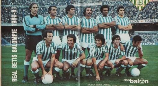 Alineación Barcelona-Betis Liga 1980