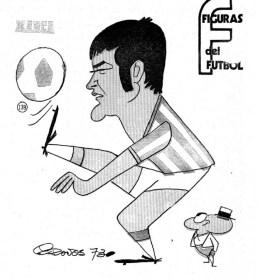 Figuras del Fútbol. Julio Iglesias
