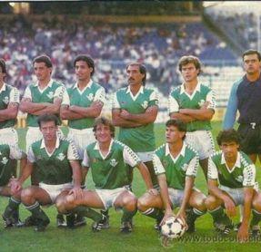 Alineación Espanyol-Betis Liga 1985