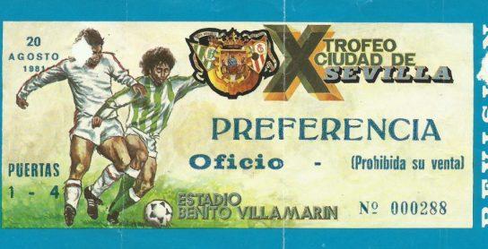 1981-Agosto 20-Consolación.-Real Betis Balompié-2 SouthamptonFc-1.-35Aniversario.