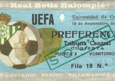 1984-Septiembre 19-UEFA 1/32Final-Ida.-Real Betis Balompié-1 Universidad Craiova-0.-32Aniversario.