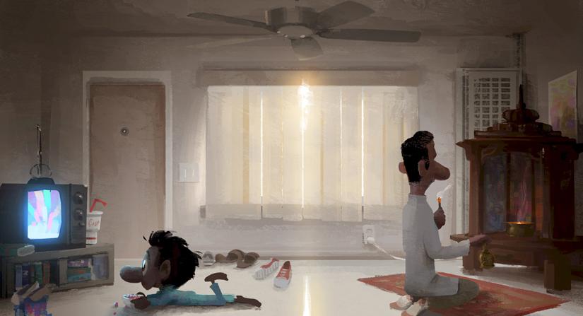 SANJAY'S SUPER TEAM (Concept Art). ?2015 Disney?Pixar. All Rights Reserved.