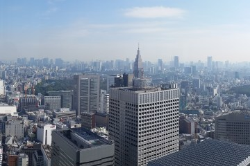 Tokyo Metropolitan Government Building rooftop serves a spectacular panaroma of Tokyo