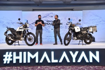 Royal Enfield Launches Himalayan-Siddhartha Lal, MD & CEO, Eicher Motors Ltd and Mr Rudratej (Rudy) Singh, President Royal Enfield 3