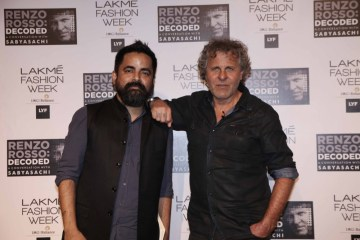 Sabyasachi with Renzo Rosso at LFW SR 2016