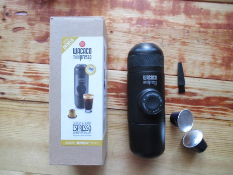 Contents of the Minipresso (excludes coffee capsules)