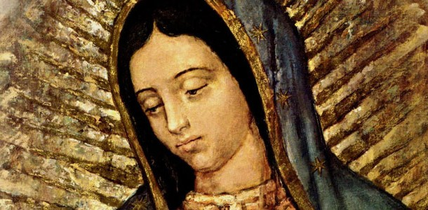 Our lady of Guadalupe Face Wide