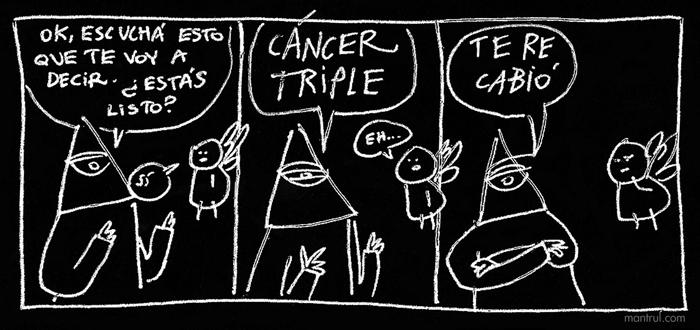 #01735 Dios is back! humor negro enfermedades Dios