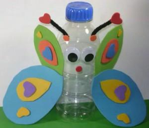 Manualidades con reciclaje: mariposa