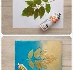 cuadros-modernos-baratos-hojas-ramas