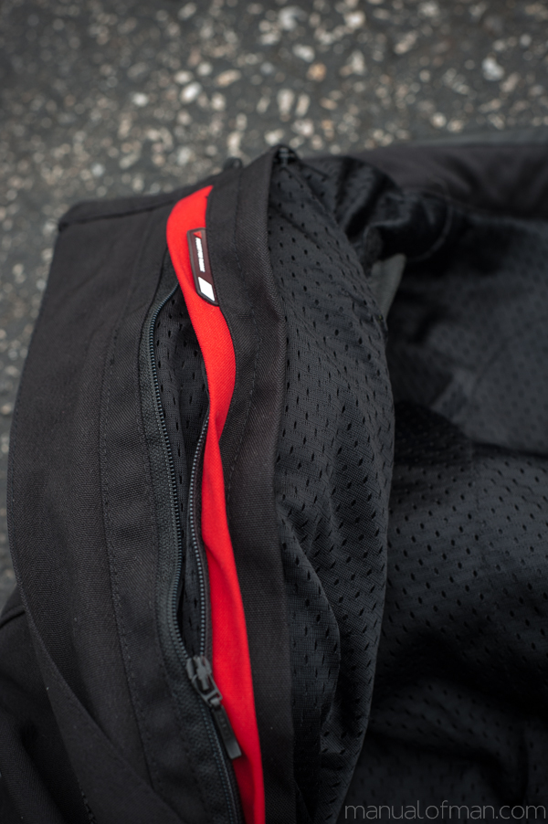 Dainese Super Speed Textile Jacket - Windproof Liner Attachment Zipper