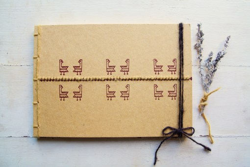 Gallinella notebook, Embroidery on Paper