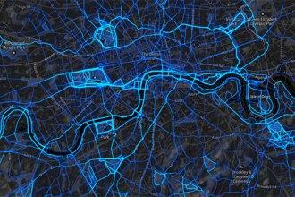 Strava running data map