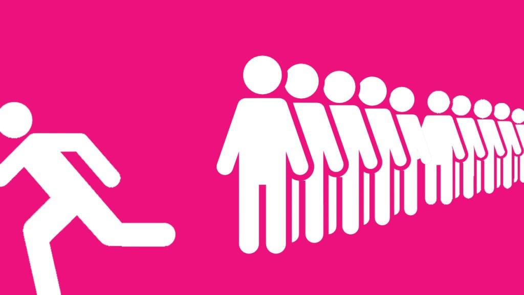 Portaloo queue
