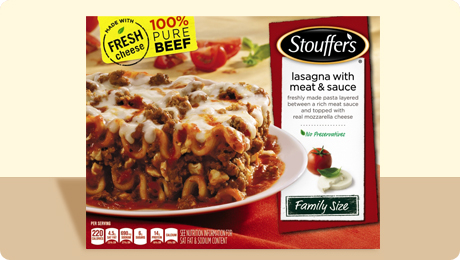 Stouffer's Family Size Lasagna with Meat & Sauce 2