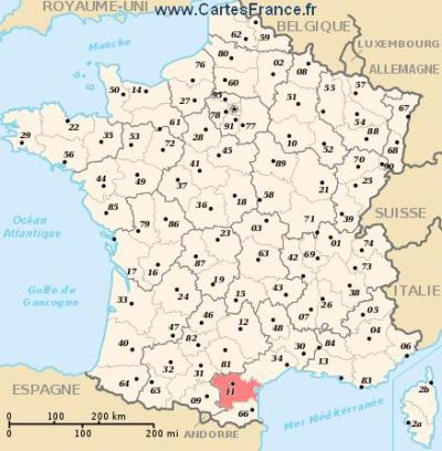 AUDE : map, cities and data of the departement of Aude 11