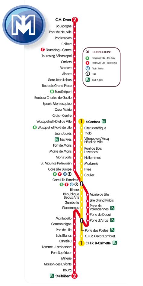 Mapa metro lille mapa metro for Lille 2 webmail