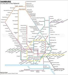 mapa Hamburg Metro map 2