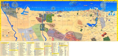 Dubai map - Fun things to do with family kids review - Heritage historical hotspots, land ...