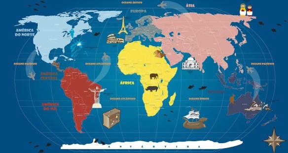 Mapa Mundi Infanto Juvenil - atualizado