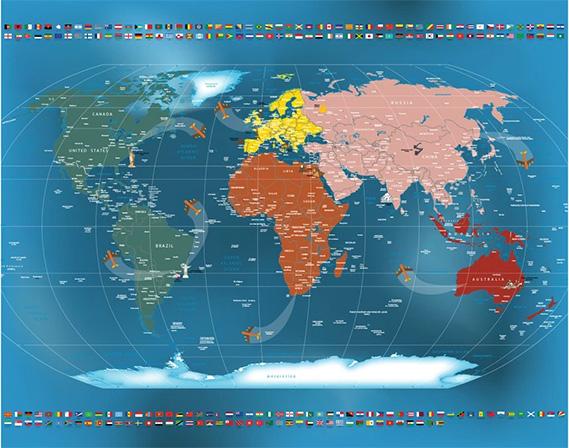 Mapa Mundi Papel de Parede