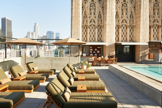 Roof top pool Ace Hotel Downtown LA.