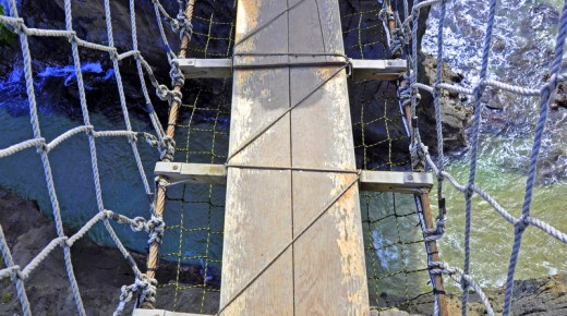 Carrick-a-Rede Rope Bridge Blind