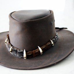 You're not going to find a quality handcrafted Australian-made outback hat made from crocodile leather anywhere else in the world.