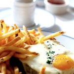 croque madame and frites at bouchon