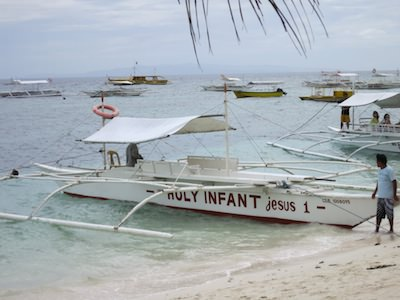 philippine banca on alona beach