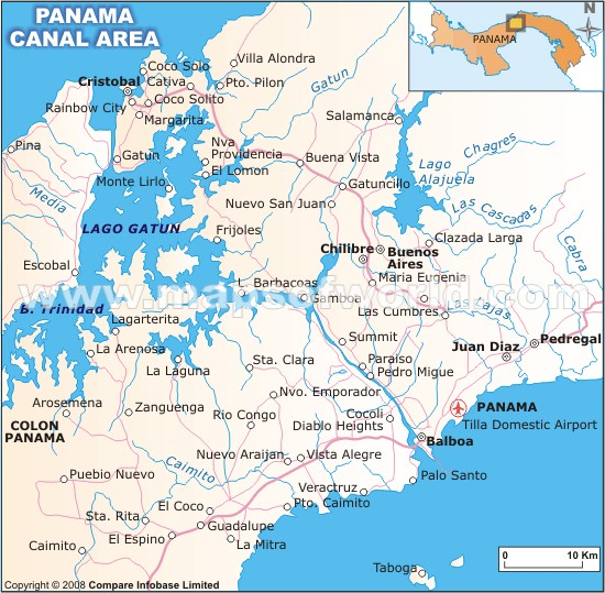 Panama Canal Map Facts Location Best Time to Visit Things to Do