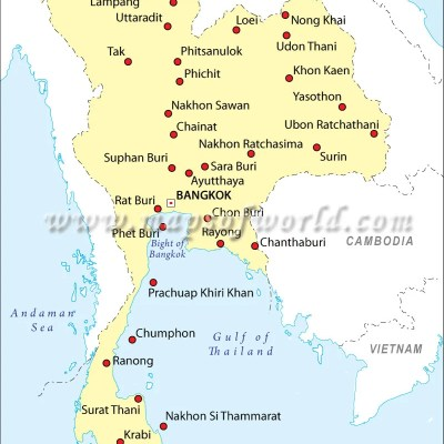 THAILAND MAP Maps Map Cv Text Biography Template Letter Formal - Map of thailand cities