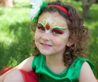 Maquillaje infantil fresa