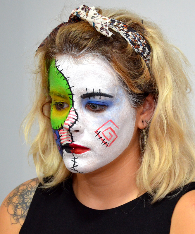 maquillaje hallowen muñeca rota