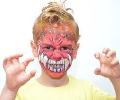 Pintacaras Maquillaje infantil de dragón
