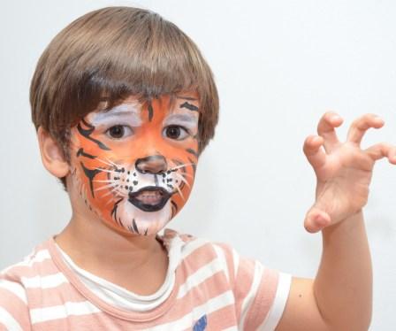Pintacaras Maquillaje infantil de tigre