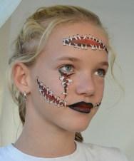 Maquillaje heridas con puntos