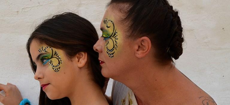 Maquillaje de fantasía para la Comparsa Kimera