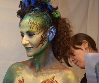 Beatriz Martínez maquillaje body paint