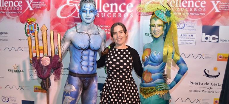 Body paint en la gala de los Premios Excellence de Cruceros