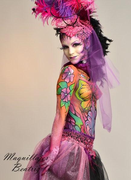 Maquillaje corporal realizado por Beatriz Martínez