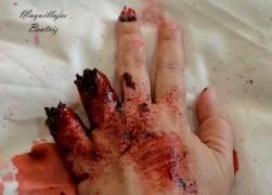 Maquillaje de dedos amputados