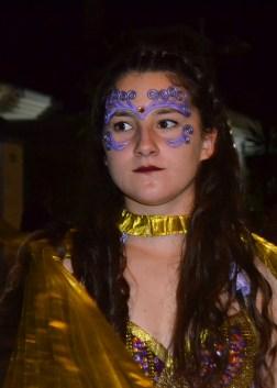 Maquillaje de fantasía con prótesis en frente y ojos