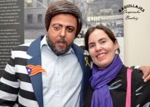 La maquilladora Beatriz Martínez con Junqueras caracterizado