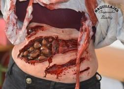 Herida por ataque de velociraptor