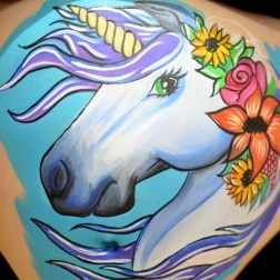 Belly paint Unicornio