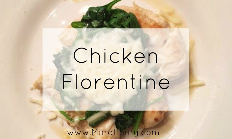 healthy chicken florentine