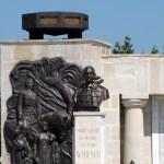 Bustul Maresalului Averescu-prim plan de la Mausoleul Marasti
