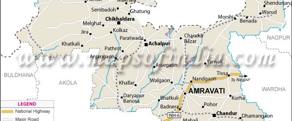 """Amravati also known as """"Ambanagari"""" is a city in the state of Maharashtra, India. It is the 8th most populous metropolitan area in the state. It is the administrative headquarters..."""